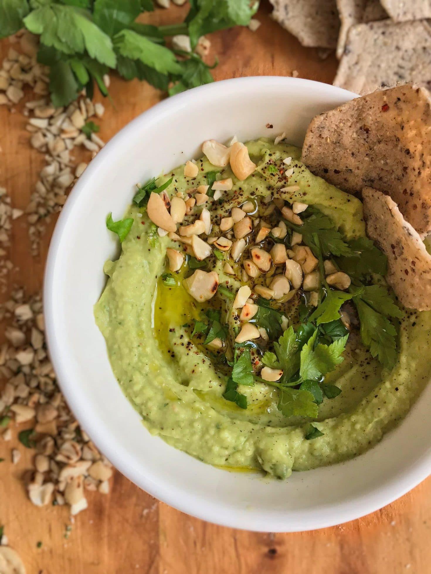 Avocado White Bean Hummus