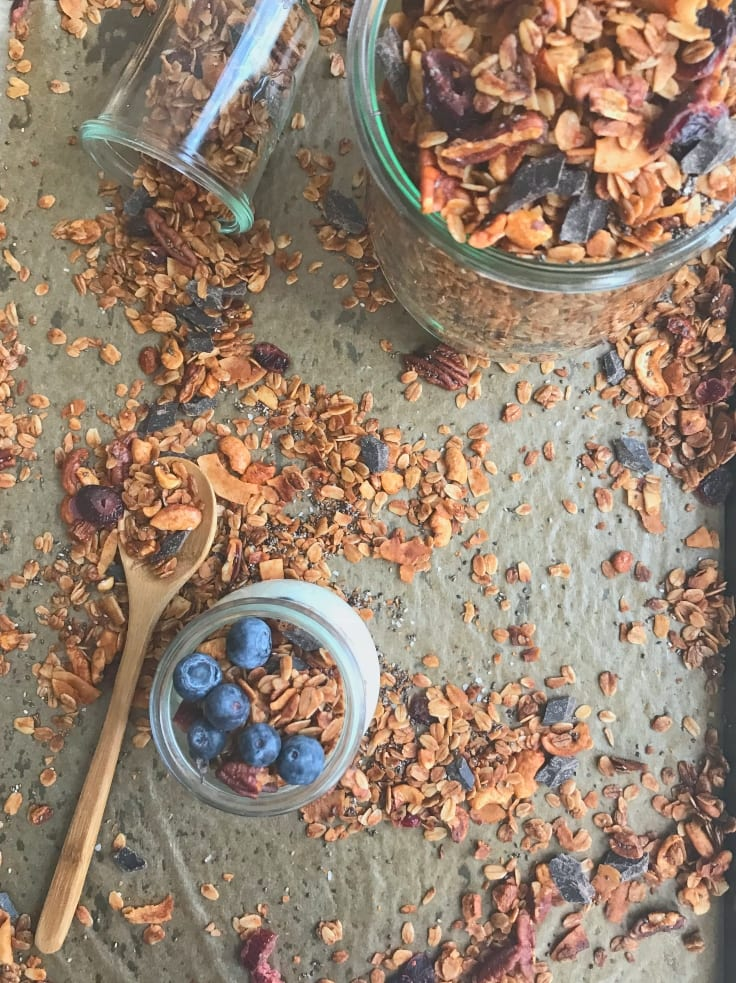 This easy granola has all of my favorite things! Except maybe Ryan Gosling...but we can work on that right?
