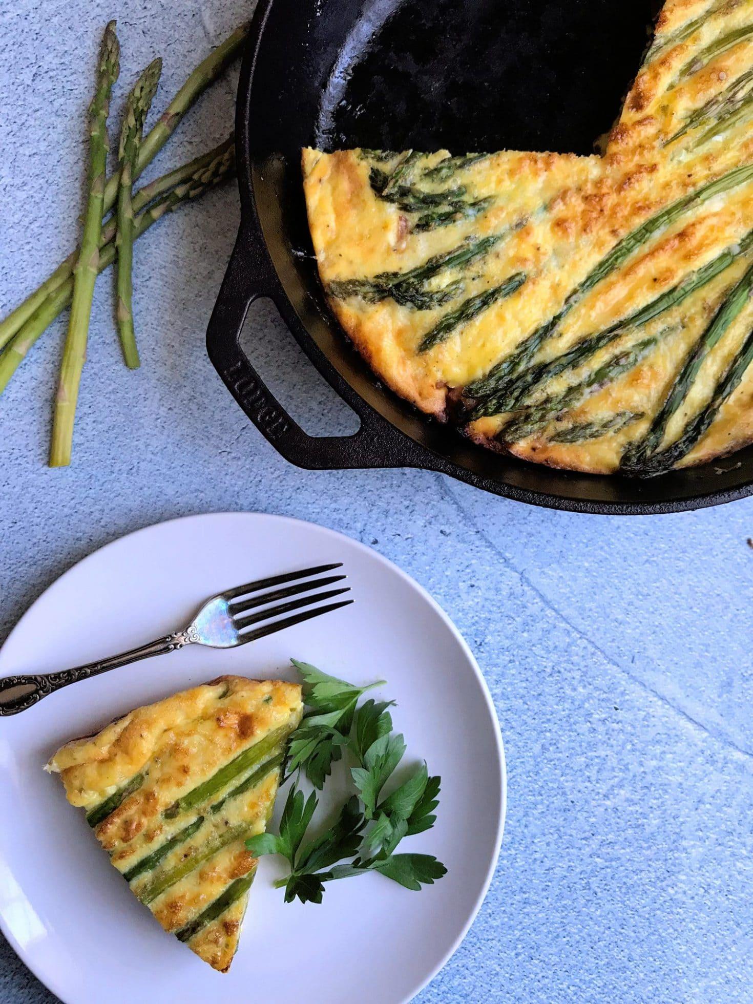 Asparagus and Ham Frittata
