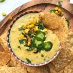Spicy Corn Queso Dip