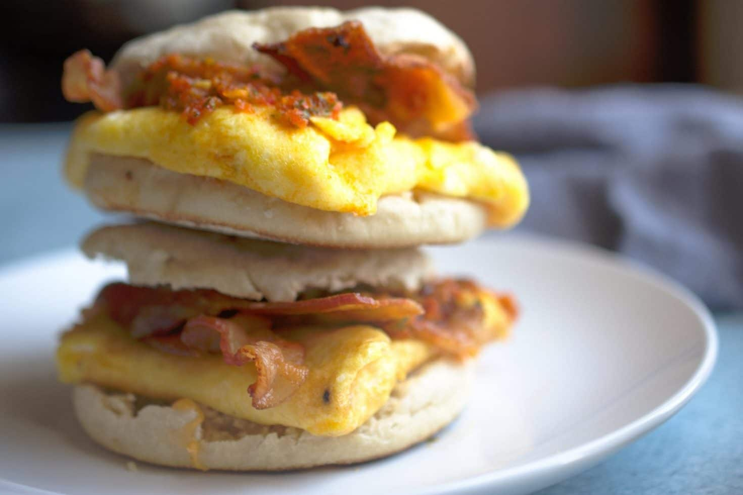 Bacon Egg and Cheese with Cherry Pepper Relish