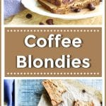 Chocolate Chip Coffee Blondies