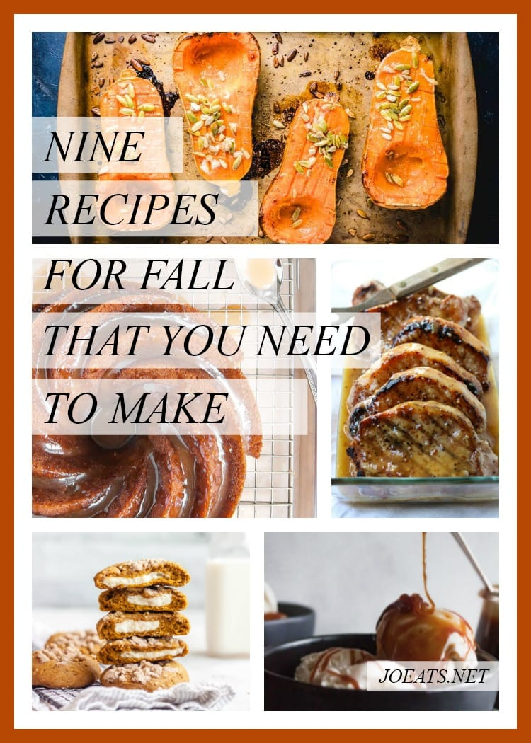 Nine fall recipes