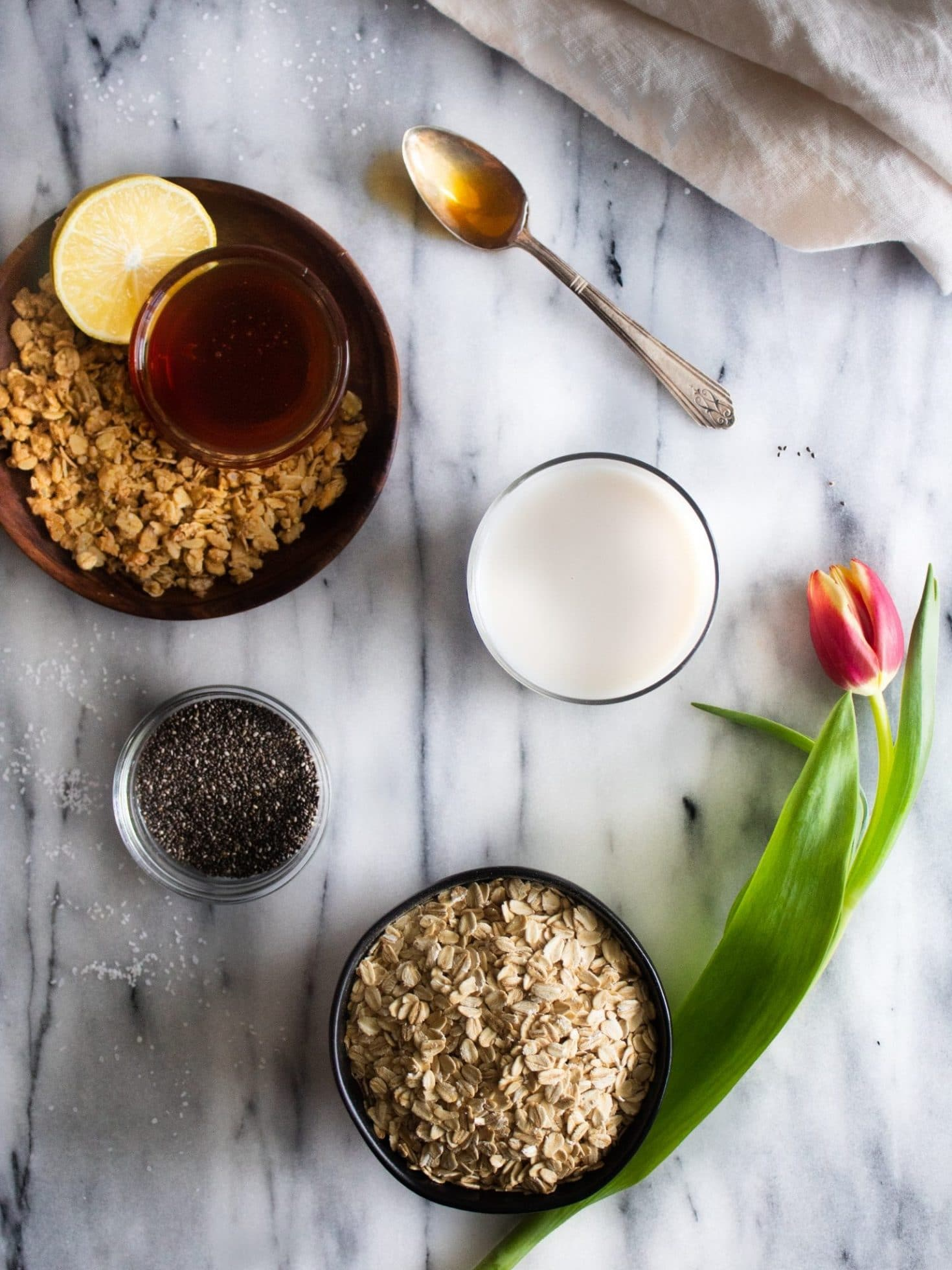 lemon overnight oats ingredients