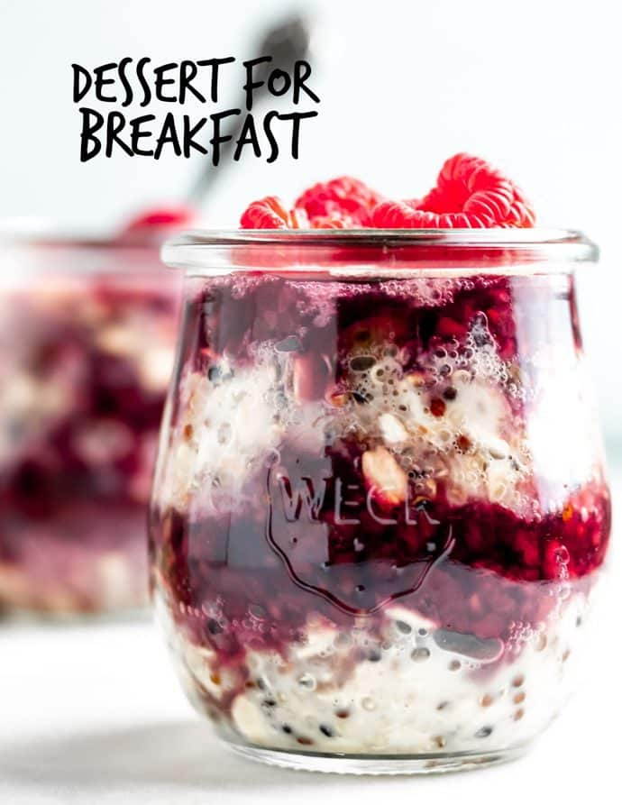 Chocolate Raspberry Quinoa Overnight Oats