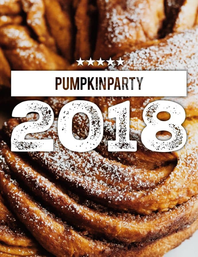 Pumpkin Brown Sugar Babka (and the virtual pumpkin party 2018!)