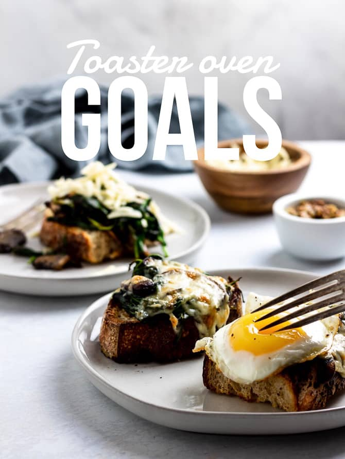 Open Faced Mushroom Melts (or grown up cheese toast)