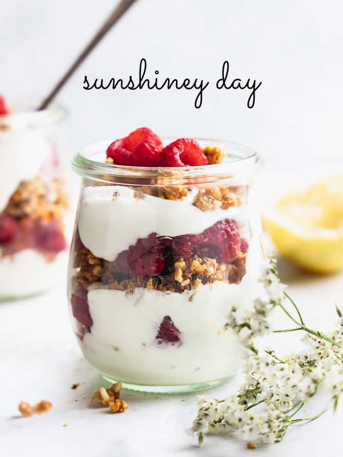 Lemon Yogurt Cheesecake Parfaits {Gluten Free}