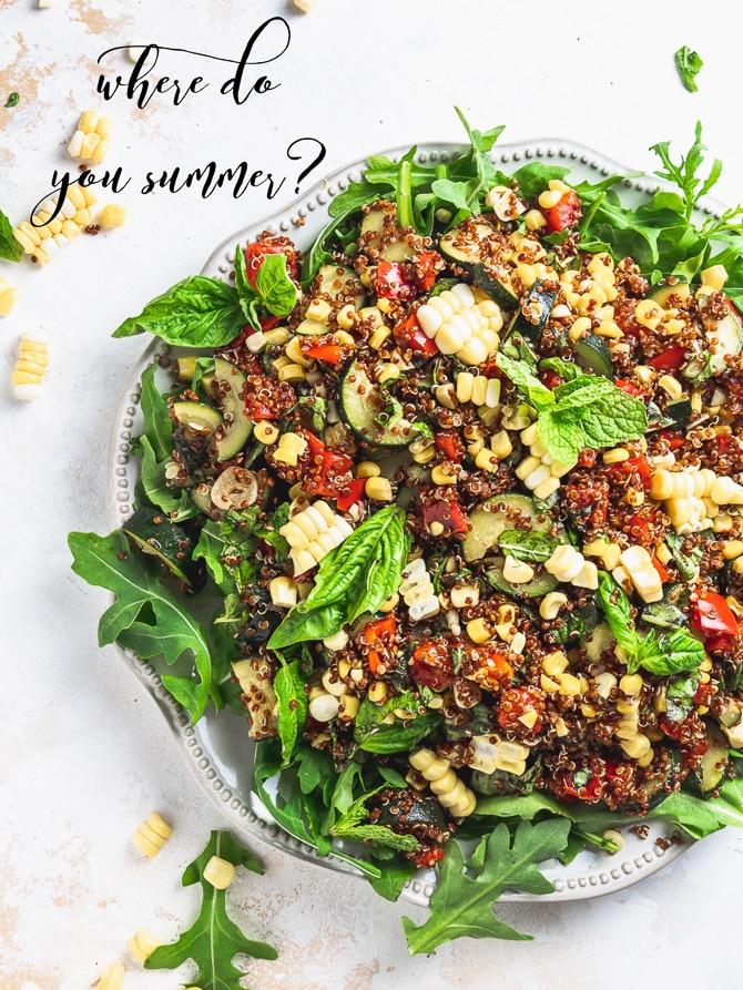 Zucchini Corn Quinoa Salad {Vegan & Gluten Free}