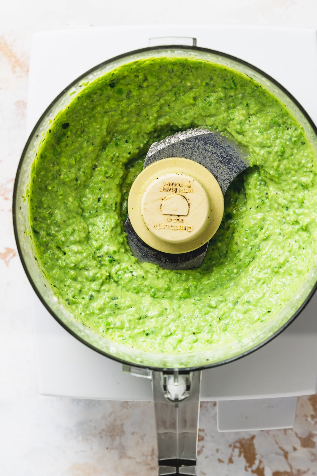 spring pea dip in food processor