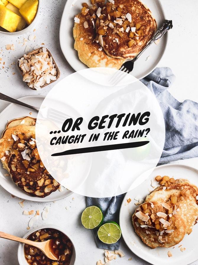 Pina Colada Pancakes {Dairy Free}