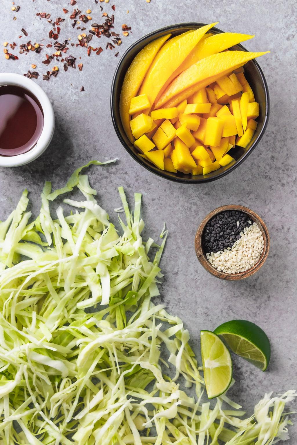 mango sesame slaw ingredients
