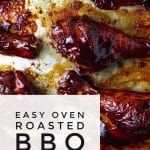 oven roasted barbeque chicken on a sheet pan