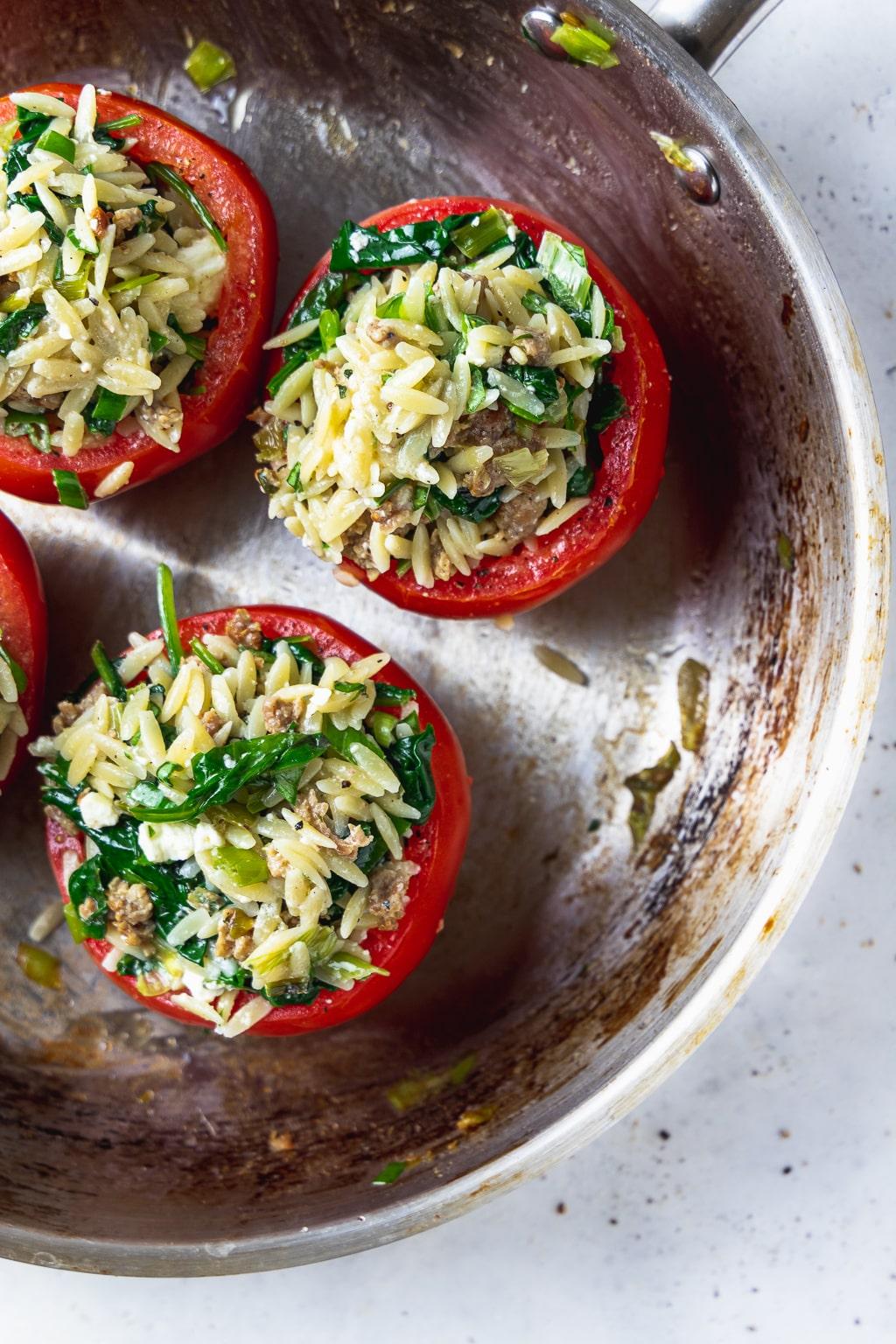 simple stuffed tomatoes uncooked