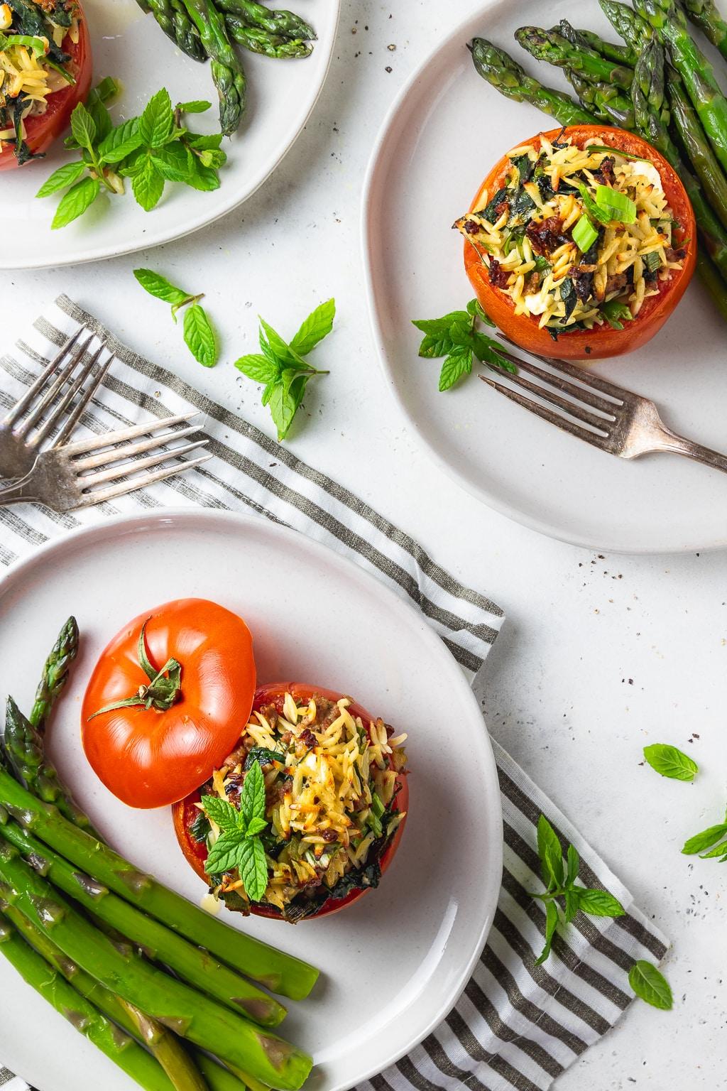 simple stuffed tomatoes