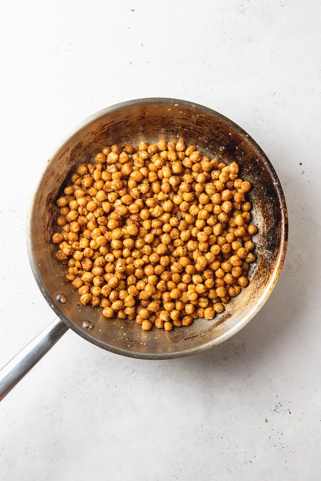 pan of spiced chickpeas