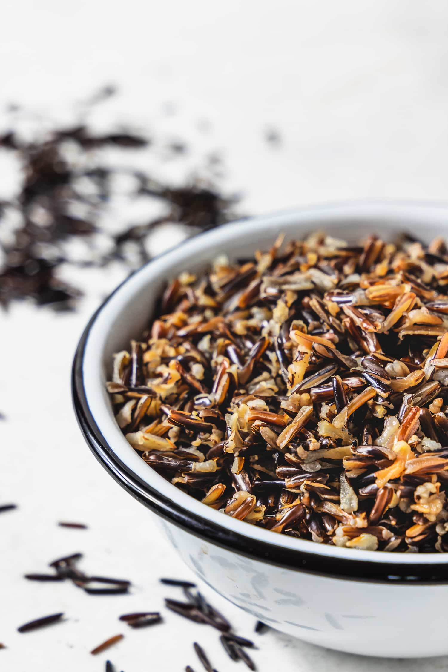 bowl of cooked wild rice