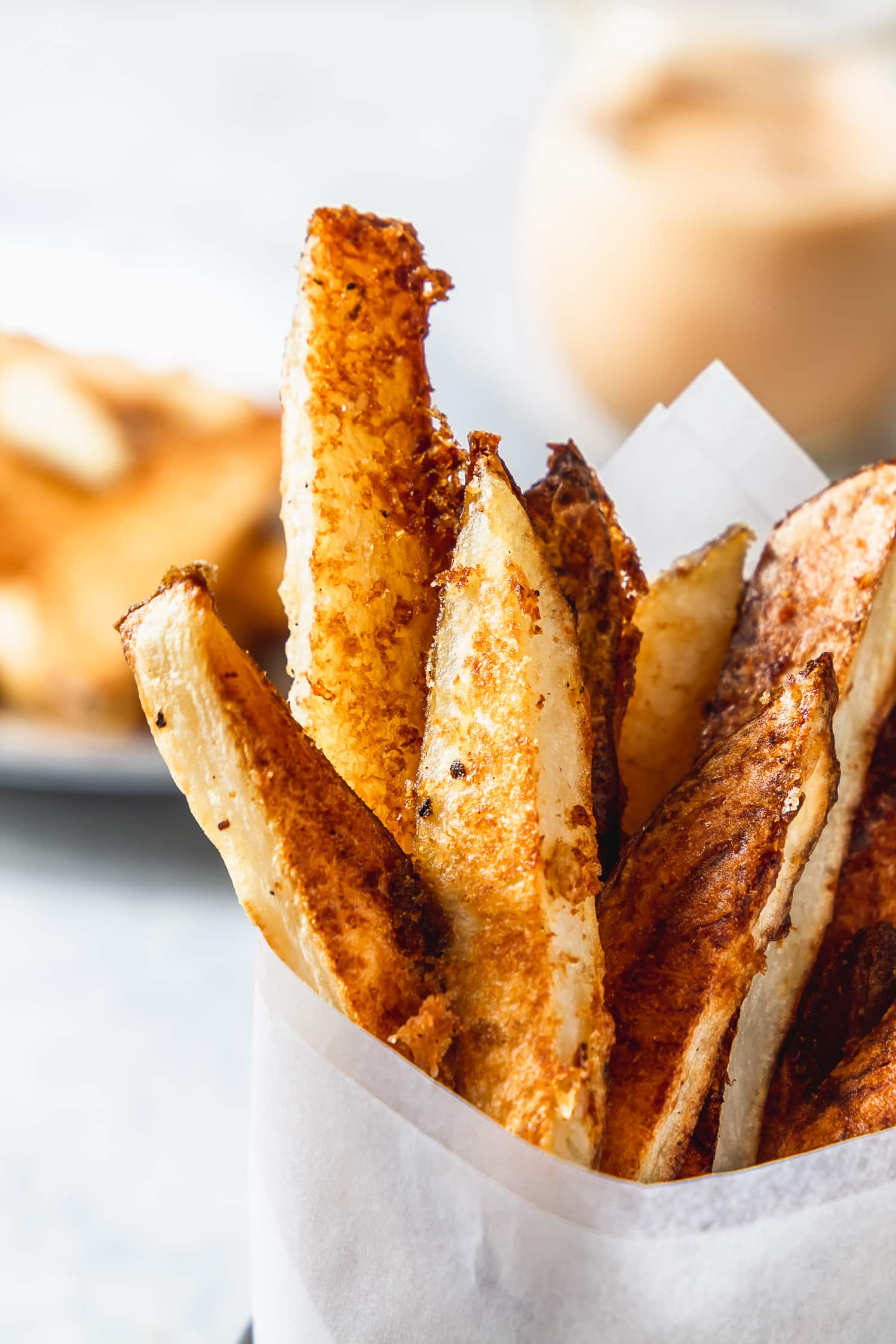 crispy oven fries with curry fry sauce