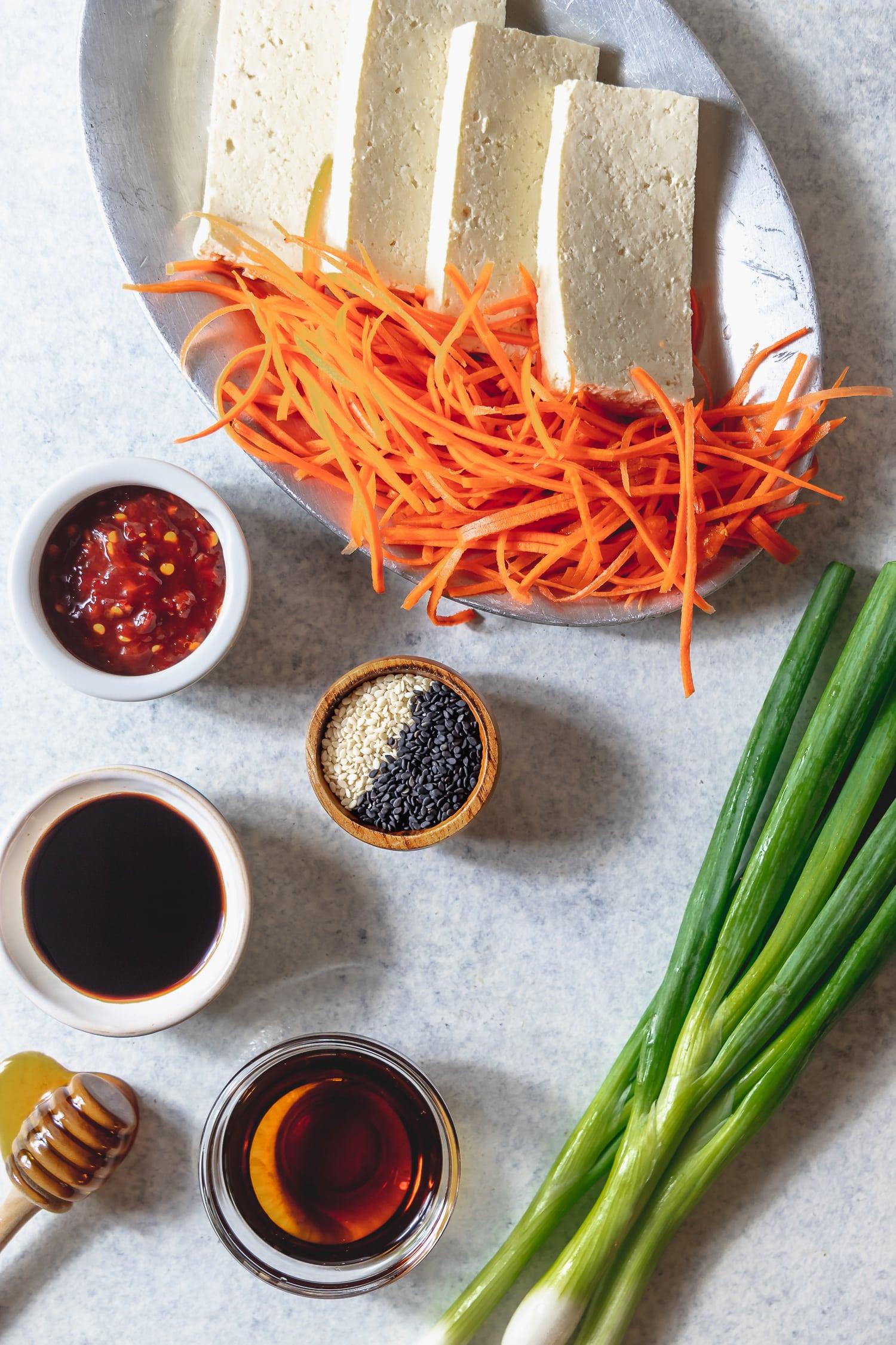 sesame tofu bowl ingredients