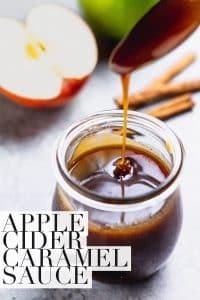 apple cider caramel in a glass jar