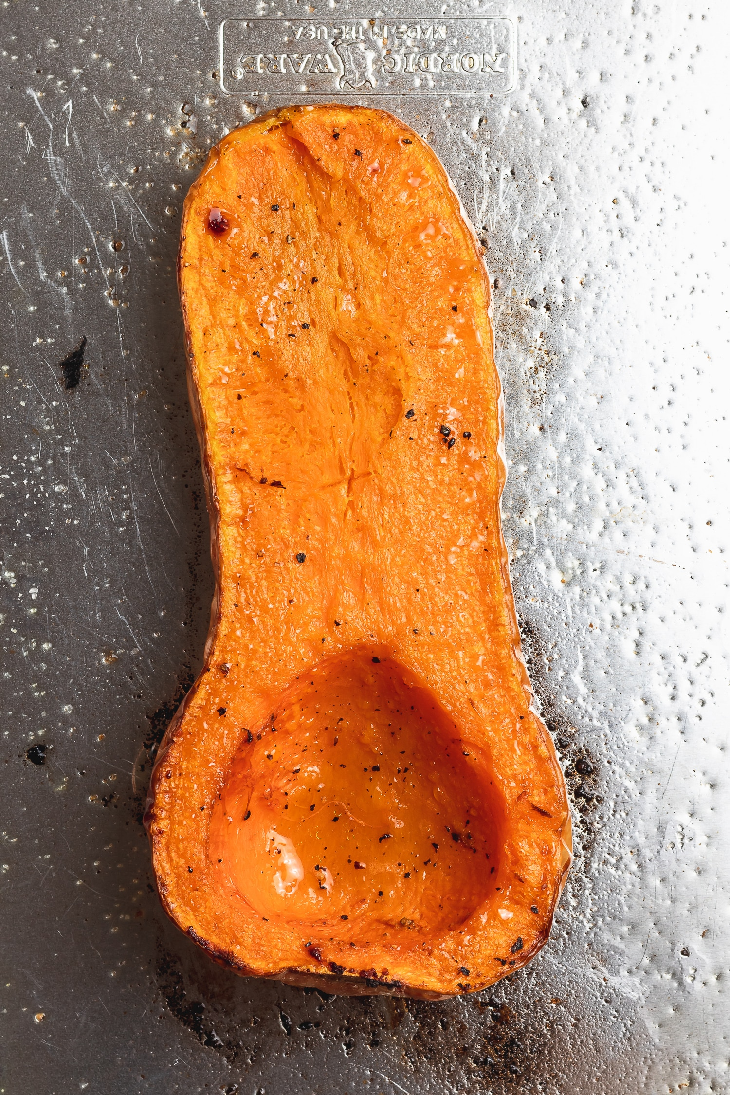 roasted butternut squash half