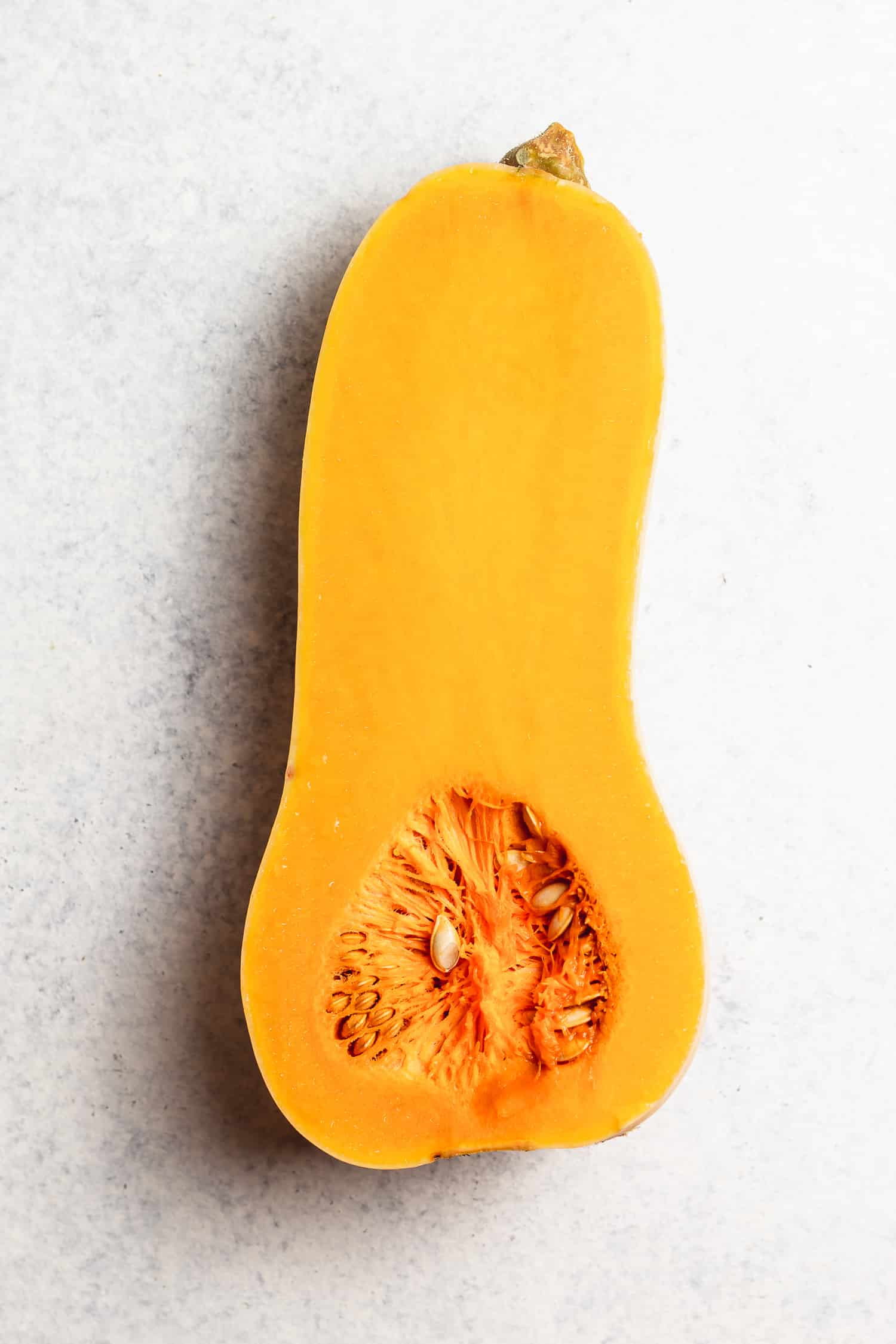 half a butternut squash, uncooked