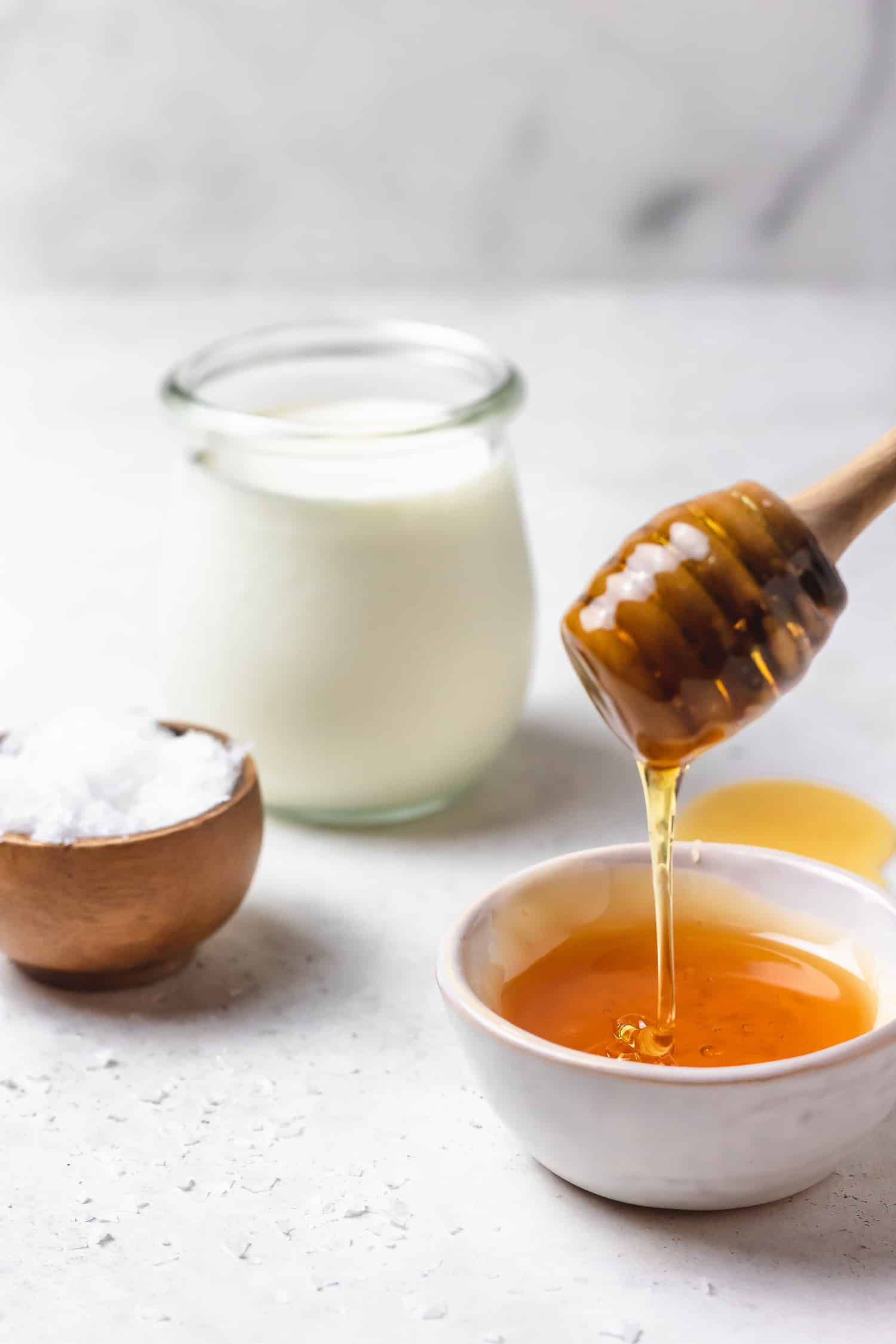 ingredients for salted honey whipped cream