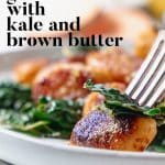 brown butter kale and sweet potato gnocchi bite