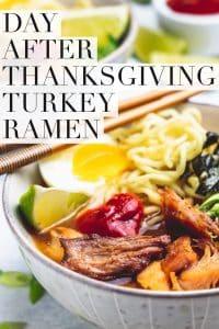 thanksgiving ramen in bowls