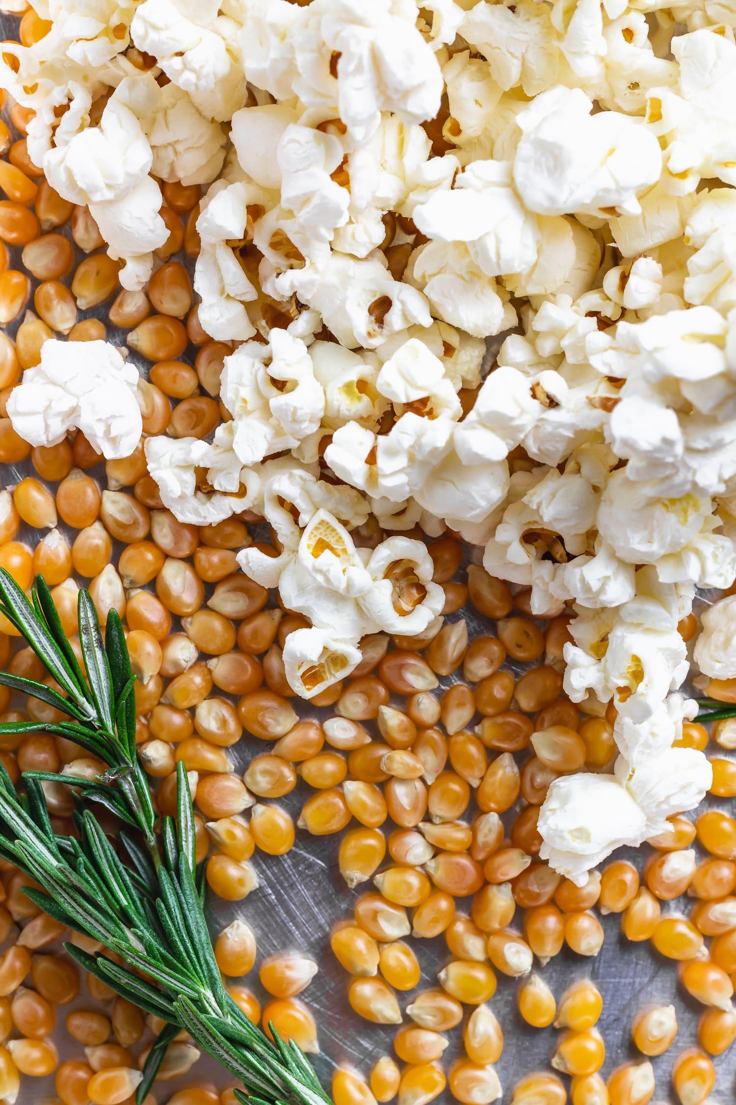 popcorn and rosemary