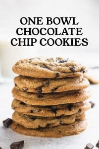 stack of easy chocolate chip cookies