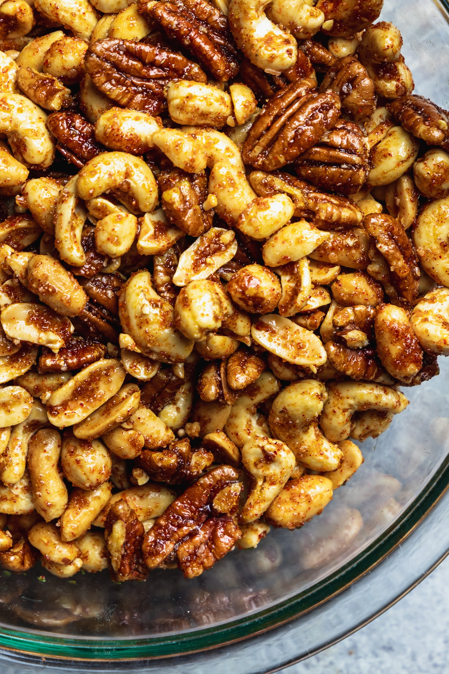 nuts tossed in spice mix