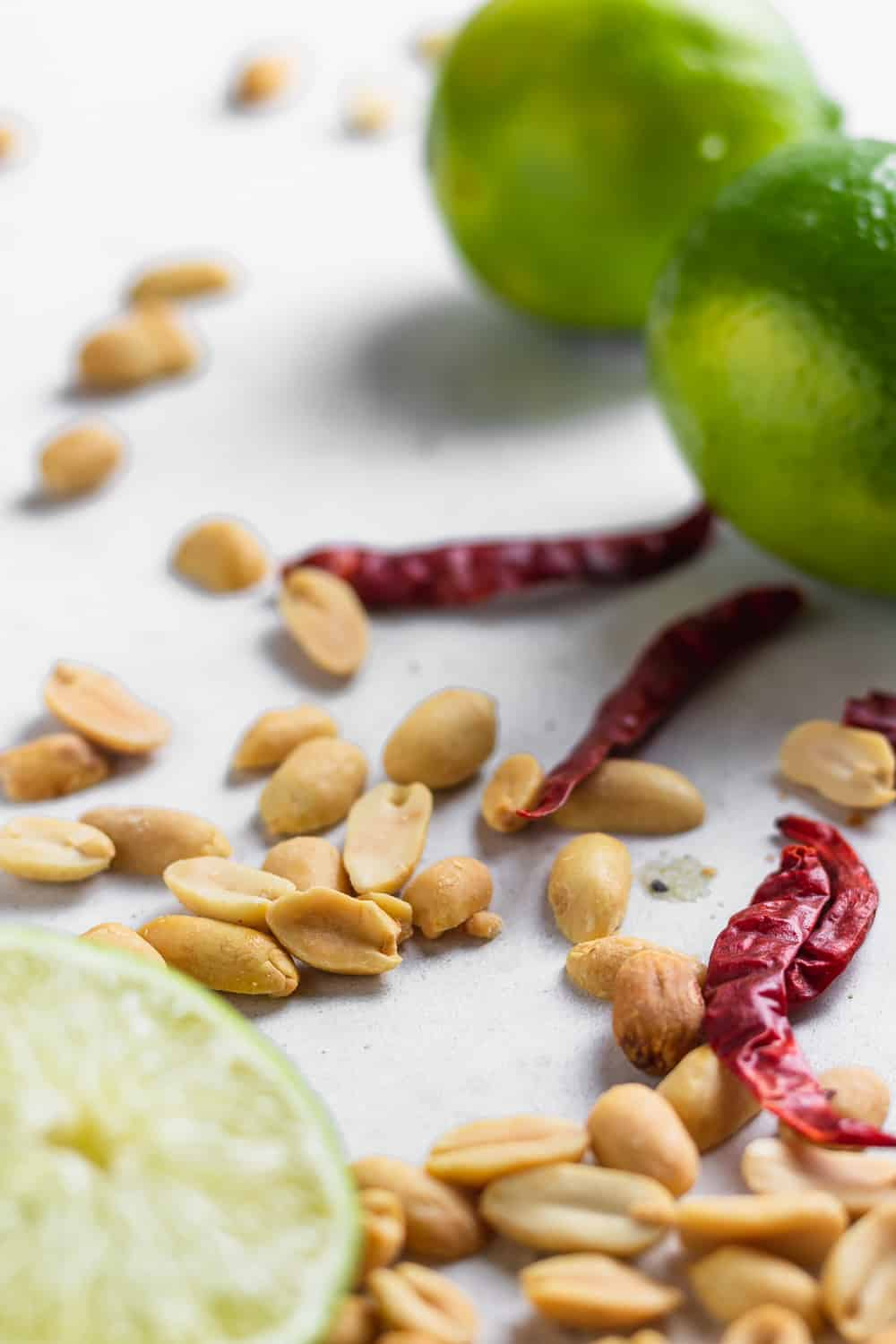 peanuts, chilis, and lime