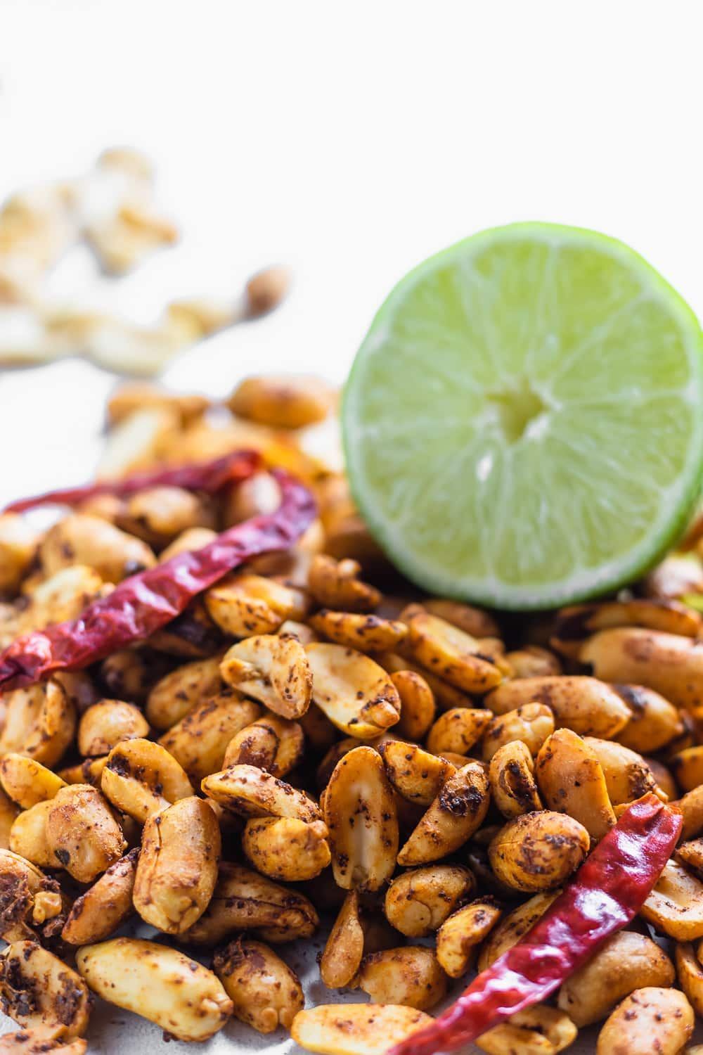 spicy chili lime peanuts