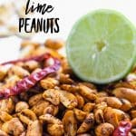 spiced peanuts with lime and chili