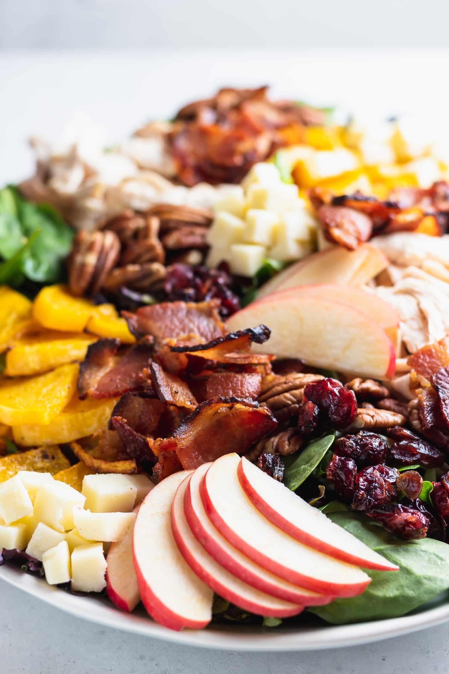 close up winter cobb salad