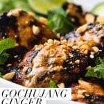 grilled chicken thighs with peanut sauce
